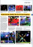 Scan of the preview of Lylat Wars published in the magazine 64 Magazine 01
