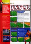 Scan of the walkthrough of International Superstar Soccer 98 published in the magazine 64 Magazine 25, page 1