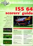 Scan of the walkthrough of International Superstar Soccer 64 published in the magazine N64 Pro 01, page 1
