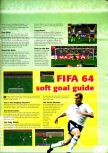 Scan of the walkthrough of International Superstar Soccer 64 published in the magazine N64 Pro 01, page 2