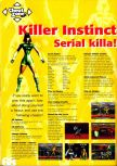 Scan of the walkthrough of Killer Instinct Gold published in the magazine N64 Pro 01, page 1