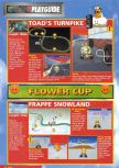 Scan of the walkthrough of Mario Kart 64 published in the magazine Nintendo Magazine 51