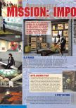Scan of the preview of Mission: Impossible published in the magazine Nintendo Magazine 53