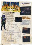 Scan of the walkthrough of Doom 64 published in the magazine Nintendo Magazine 60