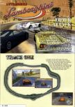 Scan of the walkthrough of Automobili Lamborghini published in the magazine Nintendo Magazine 60