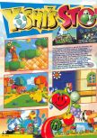 Scan of the review of Yoshi's Story published in the magazine Nintendo Magazine System 62, page 1