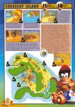 Scan of the walkthrough of Diddy Kong Racing published in the magazine Nintendo Magazine 62