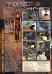 Scan of the preview of Perfect Dark published in the magazine Nintendo Magazine 85