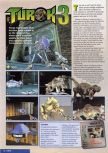 Scan of the preview of Turok 3: Shadow of Oblivion published in the magazine Nintendo Magazine 85