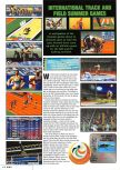 Scan of the preview of International Track & Field 2000 published in the magazine Nintendo Magazine 85