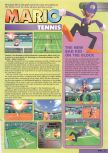 Scan of the preview of Mario Tennis published in the magazine Nintendo Magazine 87