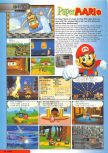 Scan of the preview of Paper Mario published in the magazine Nintendo Magazine 89