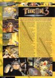 Scan of the preview of Turok 3: Shadow of Oblivion published in the magazine Nintendo Magazine 89
