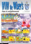 Scan of the walkthrough of Kirby 64: The Crystal Shards published in the magazine Nintendo Magazine System 89, page 1