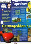 Scan of the review of Paperboy published in the magazine N64 Pro 29