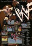 Scan of the preview of WWF Attitude published in the magazine GamePro 130, page 1