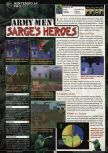 Scan of the review of Army Men: Sarge's Heroes published in the magazine GamePro 132, page 1