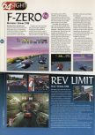 Scan of the preview of F-Zero X published in the magazine 64 Magazine 07, page 1
