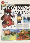 Scan of the review of Diddy Kong Racing published in the magazine 64 Magazine 07, page 1