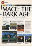 Scan of the review of Mace: The Dark Age published in the magazine 64 Magazine 07, page 1