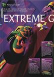 Scan of the walkthrough of Extreme-G published in the magazine 64 Magazine 08, page 1