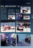 Scan of the preview of NHL Breakaway 98 published in the magazine 64 Magazine 09, page 1