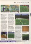 Scan of the review of FIFA 98: Road to the World Cup published in the magazine 64 Magazine 09