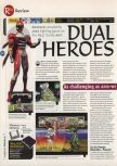Scan of the review of Dual Heroes published in the magazine 64 Magazine 09