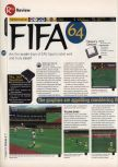 Scan of the review of FIFA 64 published in the magazine 64 Magazine 02