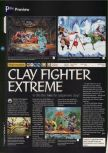 Scan of the preview of ClayFighter 63 1/3 published in the magazine 64 Magazine 02