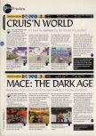Scan of the preview of Mace: The Dark Age published in the magazine 64 Magazine 02, page 1