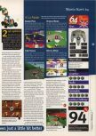 Scan of the review of Mario Kart 64 published in the magazine 64 Magazine 03