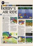 Scan of the preview of Kirby's Air Ride published in the magazine 64 Magazine 03