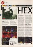 Scan of the review of Hexen published in the magazine 64 Magazine 04, page 1