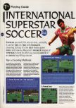 Scan of the walkthrough of International Superstar Soccer 64 published in the magazine 64 Magazine 04, page 1
