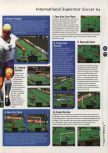 Scan of the walkthrough of International Superstar Soccer 64 published in the magazine 64 Magazine 04, page 2