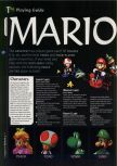Scan of the walkthrough of Mario Kart 64 published in the magazine 64 Magazine 04, page 1