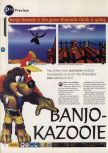 Scan of the preview of Banjo-Kazooie published in the magazine 64 Magazine 04