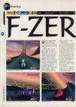 Scan of the preview of F-Zero X published in the magazine 64 Magazine 04, page 1