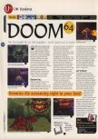 Scan of the review of Doom 64 published in the magazine 64 Magazine 05, page 1