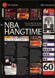 Scan of the review of NBA Hangtime published in the magazine 64 Magazine 05, page 1