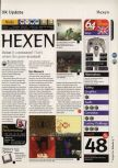 Scan of the review of Hexen published in the magazine 64 Magazine 05, page 1
