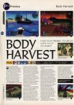 Scan of the preview of Body Harvest published in the magazine 64 Magazine 05