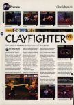 Scan of the preview of ClayFighter 63 1/3 published in the magazine 64 Magazine 05