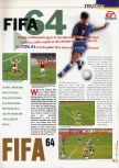 Scan of the review of FIFA 64 published in the magazine 64 Extreme 2