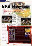 Scan of the review of NBA Hangtime published in the magazine 64 Extreme 2, page 1