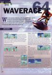 Scan of the walkthrough of Wave Race 64 published in the magazine 64 Extreme 2, page 1