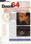 Scan of the review of Doom 64 published in the magazine 64 Extreme 3, page 1