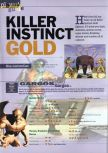 Scan of the walkthrough of Killer Instinct Gold published in the magazine 64 Extreme 3, page 1