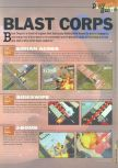 Scan of the walkthrough of Blast Corps published in the magazine 64 Extreme 3, page 1